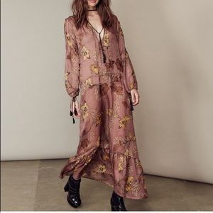 For love & Lemons Santa Rosa silk maxi dress